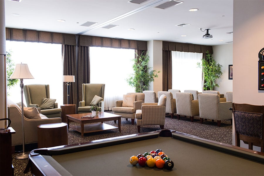 Main lounge at Bridlewood Retirement Community